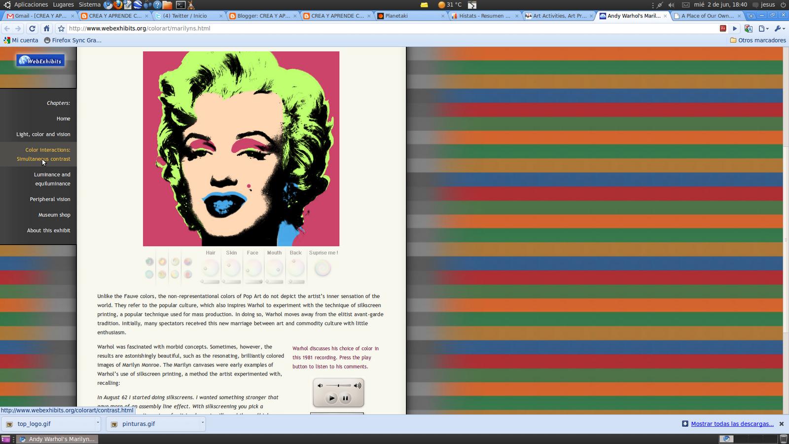 andy warholus marilyn prints consiste en siguiendo la tcnica de los fauvistas cambiar los colores de la famosa pintura de marilyn realizada por warhol