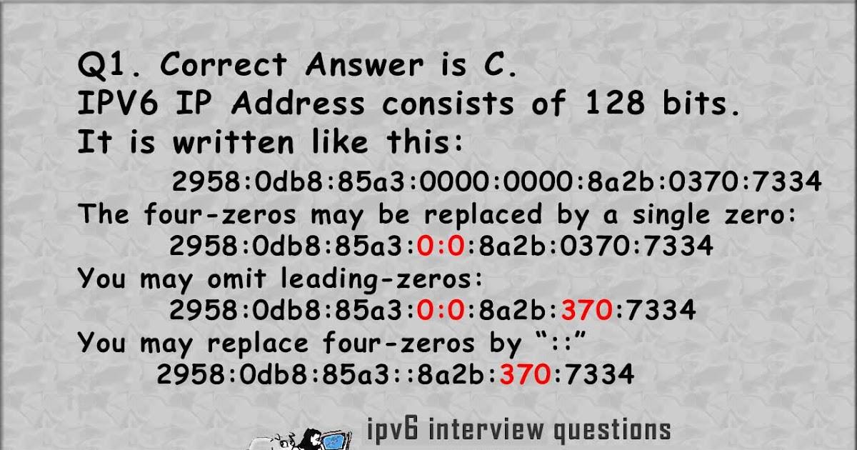 Welcome to Tutor PIGGY.blogspot.com: Answers for IPV6