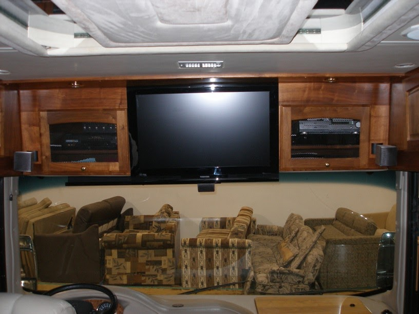 Remodeling Your RVs interior Flat screen TV installation in an RV