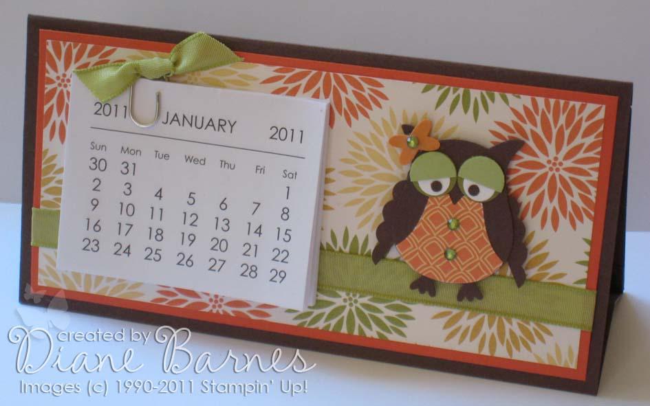 Colour Me Happy Mini Desk Calendar Instructions Template