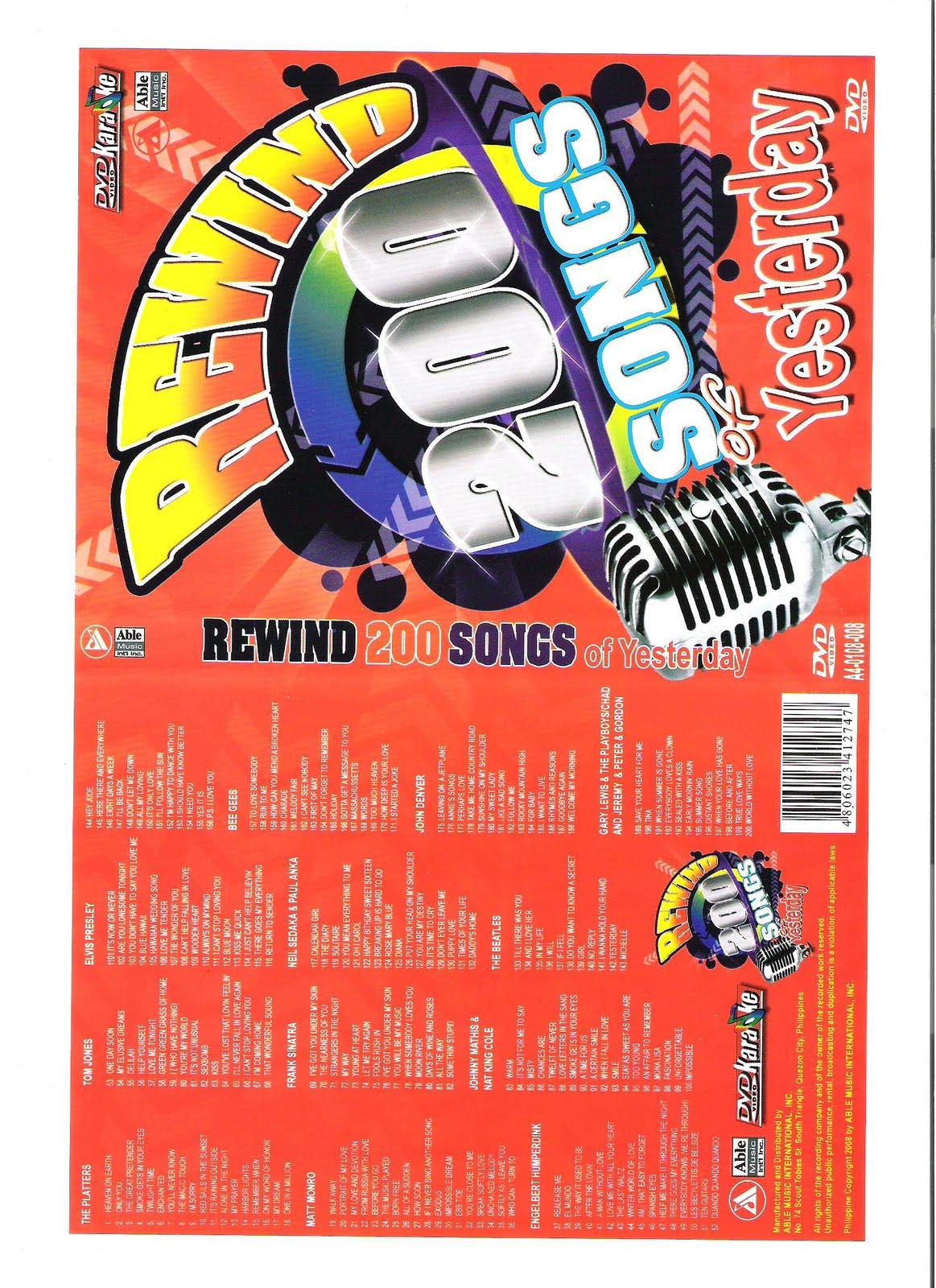 Sing Karaoke: Karaoke 200 songs of yesterday One DVD Disk