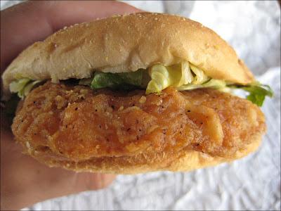 Review Kfc Original Recipe Chicken Sandwich Brand Eating
