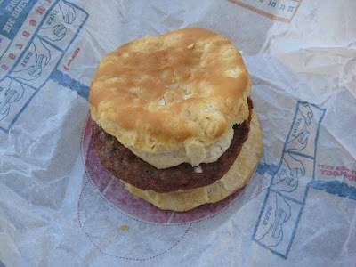 Burger King Sausage Biscuit top view