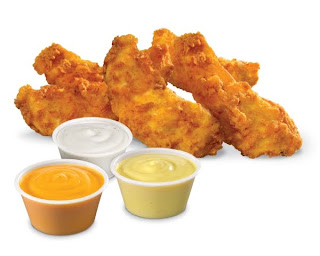 Hardee's Hand-Breaded Chicken Tenders with sauces