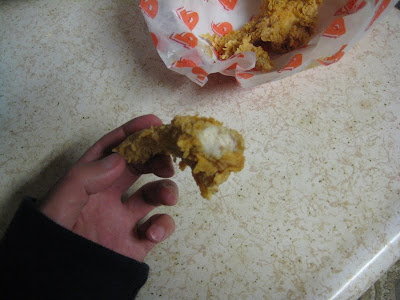 Popeye's Louisiana Tenders cross section