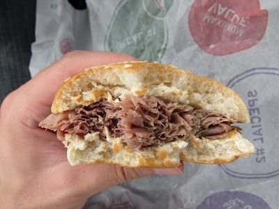 Jr. Roast Beef cross section
