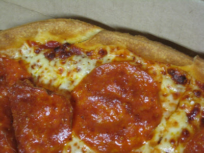 Pizza Hut's Thin N Crispy Pepperoni Pizza crust