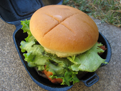 Chick-fil-A Chicken Sandwich Deluxe in its clamshell
