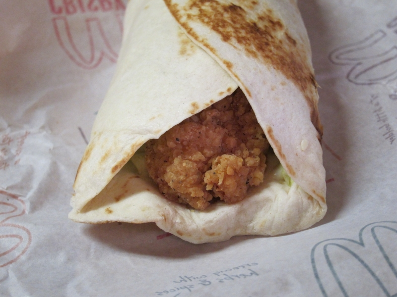 Review Mcdonald S Crispy Ranch Snack Wrap Brand Eating