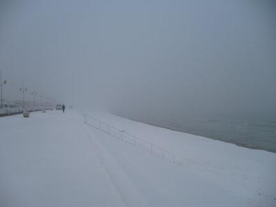dunkerque plage sous la neige par pierre-yves gires