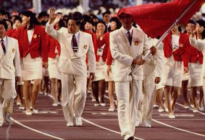 Barcelona 1992 - China desfilando en la ceremonia inagural