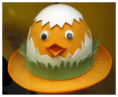 Made by B: Easter egg hat