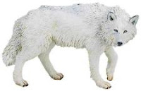 white wolf toy miniature