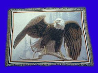 eagle blanket throw tapestry patriotic