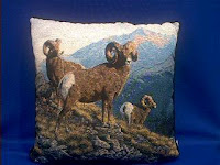 big horn sheep pillow