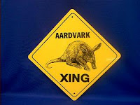 aardvark crossing sign