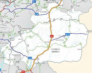 termas de monfortinho mapa Um olhar sobre a Vila: IC31 : Alcains   Termas de Monfortinho termas de monfortinho mapa