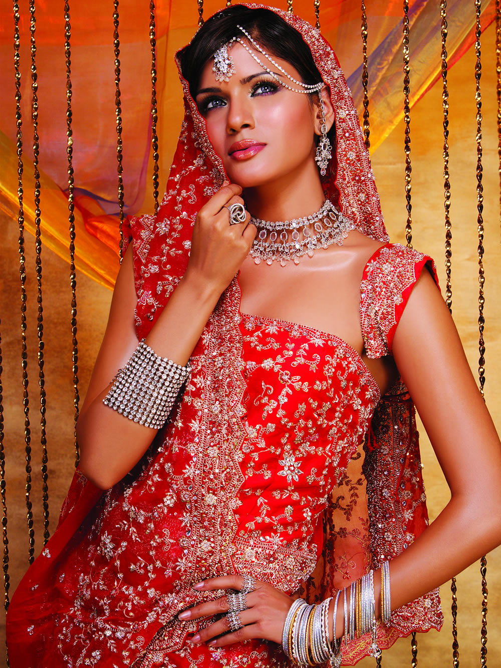 Indian Woman In Black Saree: Paisley Curtain: Bridal Dresses To Marry For