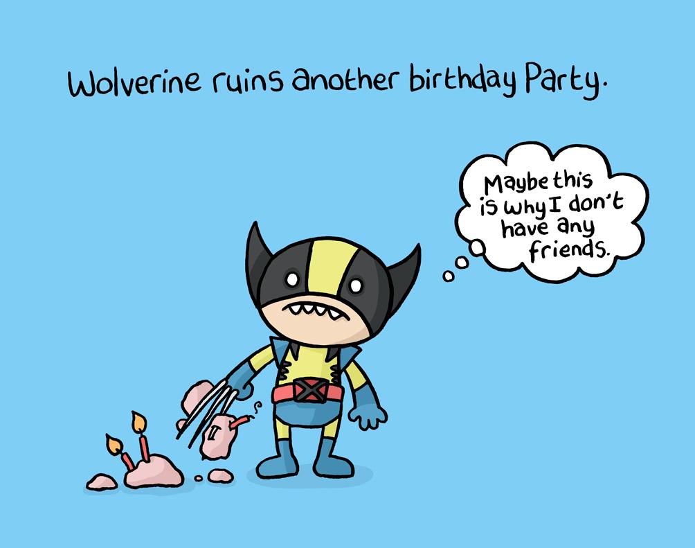 Squid Bits Wolverine Vs Cake
