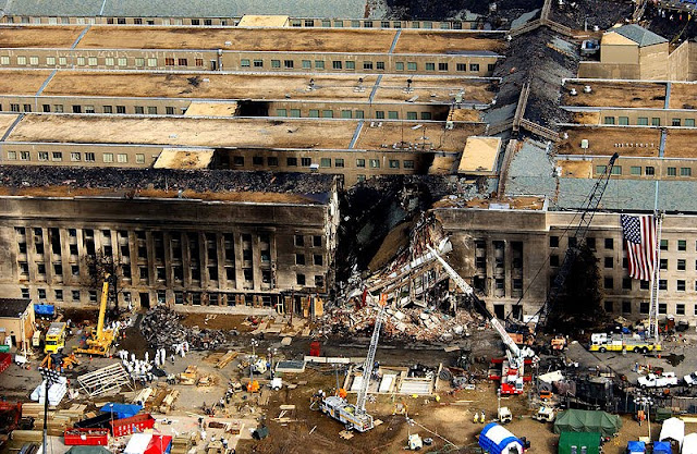 The Pentagon,, 14 September 2001, photo by Tech. Sgt. Cedric H. Rudisill- PD-USGov-Military