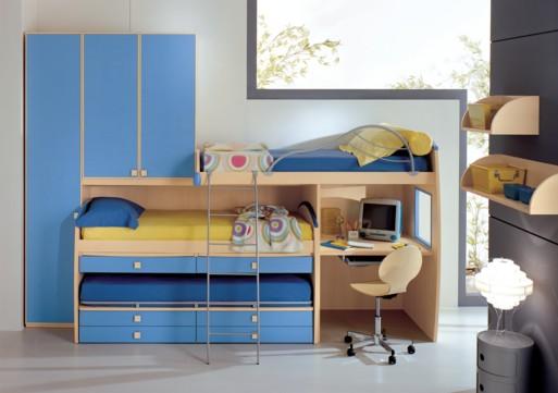 Dormitorios infantiles dise o de dormitorios peque os compartidos ideal para hermanos - Disenos de dormitorios pequenos ...