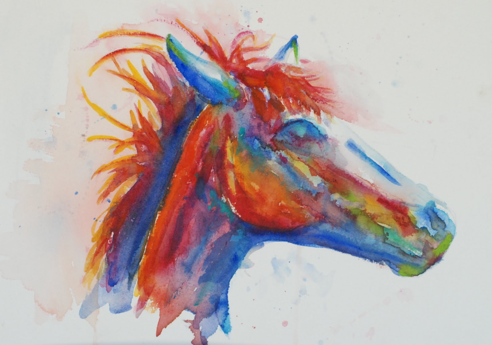 Vicki Wood Jd Watercolor Painting Horse