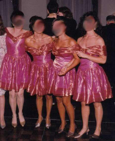 Horrible Wedding Dresses: Kitty Boo Boo: Worst Bridesmaids Dresses Ever?