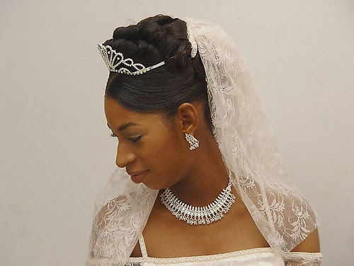African American Wedding Hairstyles & Hairdos: Real Bride Updo