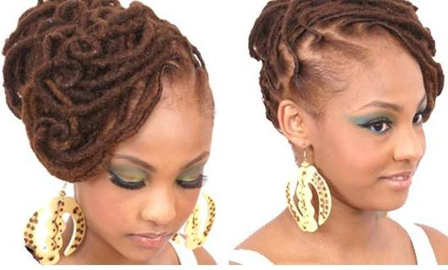African American Wedding Hairstyles & Hairdos: Locs & Love