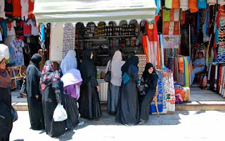 Muslim Women Shopping Aswan Egypt