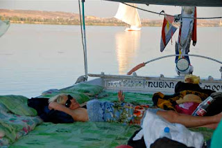 Pat Chillin Felucca Boat Nile River Egypt