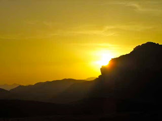Sunset Wadi Rum Judean Desert Jordan