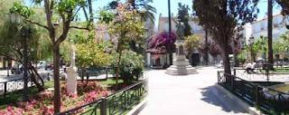 Square in Cadiz Spain