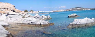 Kolimbithres Beach Paros Greek Islands Greece