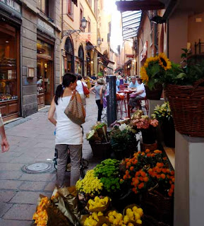 Shopping Old Town Street Bologna Italy