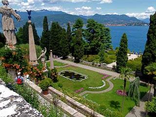 Gardens Palazzo Barromero Isola Bella Lake Maggiore Italy