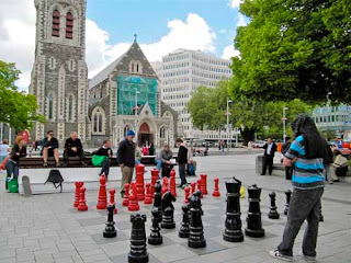 Chess Cathedral Square Christchurch New Zealand