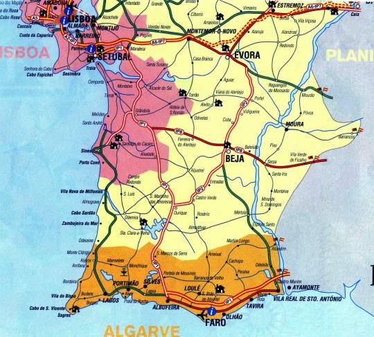 mapa sul portugal Mapa De Portugal Sul | thujamassages mapa sul portugal