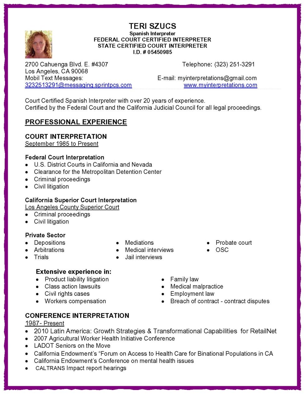 medical interpreter resume examples resume format  medical interpreter