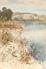THE RIVER ARUN AT AMBERLEY BY ARTHUR RACKHAM ...