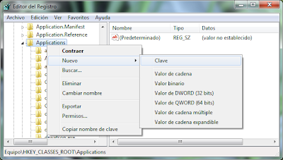 Crear Clave Applications