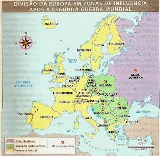 mapa politico da europa apos a segunda guerra mundial CONHECENDO A GEOGRAFIA: ASPECTOS GEOGRÁFICOS DA EUROPA   ANTES E  mapa politico da europa apos a segunda guerra mundial