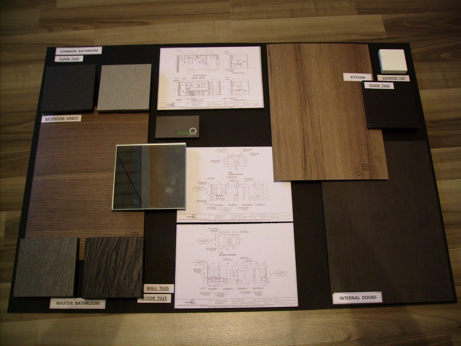 interior design material samples