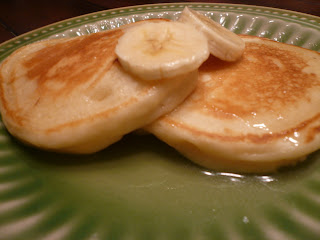 Banana Sour Cream Pancakes and Magelby's Buttermilk Syrup