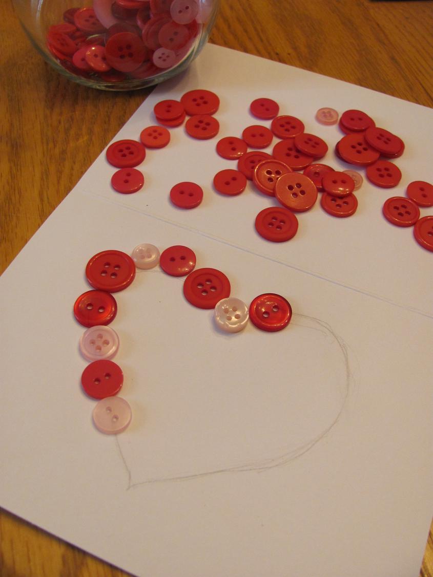 this girls life diy valentine button heart card