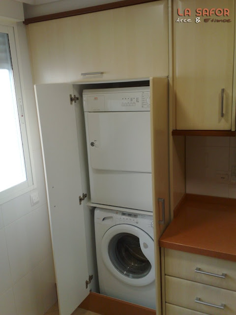 dormitorio muebles modernos armario para lavadora y secadora
