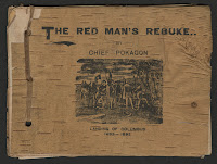 "A cover for ""The Red Man's Rebuke."""