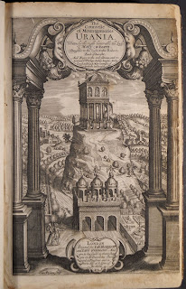 An elaborately engraved title-page featuring text enclosed in architectural elements.