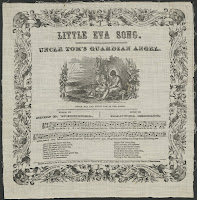 "An illustrated page of sheet music for ""Little Eva Song."""