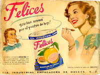 A color advertisement for canned fruit.